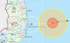 Bão 12 đang lao nhanh về vùng biển Bình Định đến Ninh Thuận