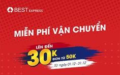 BEST Express miễn phí vận chuyển chào bão sale 12.12