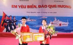 Đôi bạn cùng lớp giành giải nhất và nhì cuộc thi tìm hiểu biển đảo