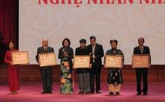 Trao tặng, truy tặng danh hiệu Nghệ nhân nhân dân, Nghệ nhân ưu tú cho 77 nghệ nhân