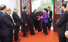 Chủ tịch Quốc hội chúc mừng Giáng sinh Tòa tổng giám mục giáo phận Huế
