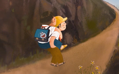 Xe quần áo 0 đồng, cậu bé cõng bạn đến trường lên phim 'Lòng tốt dễ lây'