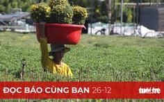Đọc báo cùng bạn 26-12: Nhà vườn thấp thỏm với hoa tết