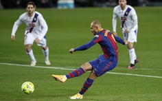 Vắng Messi, Barcelona hòa thất vọng trước Eibar