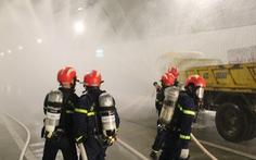 Diễn tập chữa cháy ở hầm Hải Vân 2 trước khi lưu thông