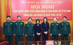Tuyển dụng vợ của hai liệt sĩ Đoàn 337 làm quân nhân chuyên nghiệp