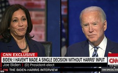 Ông Biden nói sẽ từ chức nếu bất đồng sâu sắc với 'phó tướng' Kamala Harris