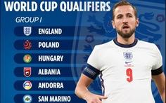 Tuyển Anh gặp 'sát thủ' Lewandowski, Pháp ở bảng 'khó nhất' vòng loại World Cup 2022
