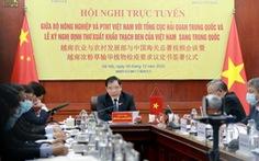 Việt Nam - Trung Quốc thiết lập đường dây nóng giải quyết ùn tắc nông sản