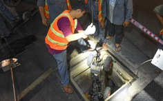 Cận cảnh robot khảo sát cống ngầm ở TP.HCM