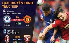 Lịch trực tiếp bóng đá châu Âu: Chelsea gặp Man United