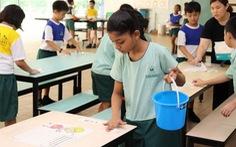 Con tôi ở Singapore vẫn đi học