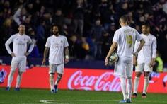 'Ngã ngựa' trước Levante, Real Madrid lỡ cơ hội tái chiếm ngôi đầu