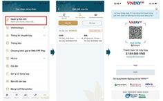 Thanh toán mã đặt chỗ Vietnam Airlines qua phương thức VNPAY-QR