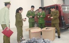 Bán khẩu trang không rõ nguồn gốc bị tịch thu tại Thanh Hóa