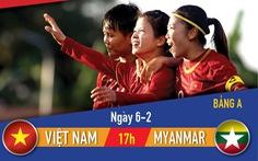 Lịch thi đấu vòng loại Olympic 2020 môn bóng đá nữ: Việt Nam - Myanmar