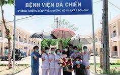 Châu Bùi quay lại Bệnh viện dã chiến Củ Chi ủng hộ quạt máy, nước rửa tay