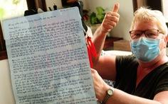 Xúc động thư tay 'viết tiếng Việt dịch từ Google' của du khách Ba Lan từ khu cách ly