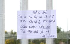 Ngừng nhận tiếp tế cho người cách ly tại KTX ĐHQG TP.HCM