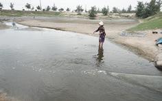 Hệ thống xả thải khu nuôi tôm gây ô nhiễm nghiêm trọng