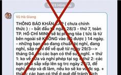 Xử phạt chủ 18 tài khoản Facebook tung tin giả phong tỏa toàn TP.HCM