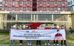 J&T Express tặng hơn 11.000 thùng carton cho khu cách ly Ký túc xá ĐHQG