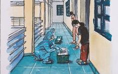 Ký họa dễ thương trong 'kỳ cách ly nghỉ dưỡng' của kiến trúc sư về từ Anh