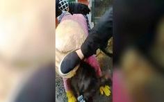 Nhân viên trật tự chợ đạp vào đầu tiểu thương vì ngồi không đúng chỗ
