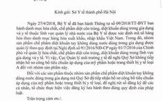 Sở Y tế Hà Nội bị 'trách' vì chứng nhận sản phẩm sai