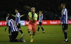 Aguero đưa Man City vào tứ kết Cúp FA, Tottenham bị loại