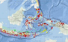 Indonesia có 779 trận động đất chỉ trong tháng 2