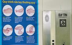 ĐH Duy Tân chế tạo máy hướng dẫn rửa tay