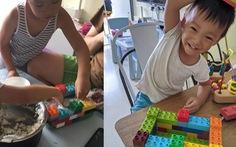 Phụ huynh sáng tạo 'đủ trò' cho con chơi trong mùa COVID-19