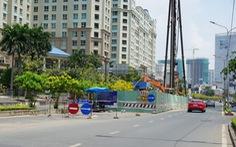 Đề nghị chủ đầu tư sửa nhanh 'rốn ngập' đường Nguyễn Hữu Cảnh