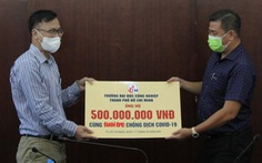 ĐH Công nghiệp TP.HCM góp 500 triệu đồng cho chương trình 'Cùng Tuổi Trẻ chống dịch COVID-19'