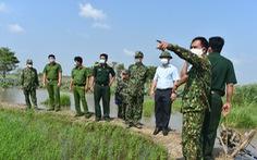 An Giang 'chi viện' 92 cán bộ, chiến sĩ công an tỉnh về 22 xã biên giới phòng dịch COVID-19