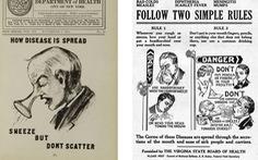 100 năm apphich vẫn thông điệp: Che miệng khi ho, ở nhà khi bệnh, tránh đám đông