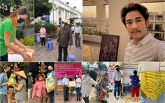 Hứa Vĩ Văn bán tranh, Đại Nghĩa lắp 'ATM gạo' và các sao Việt làm từ thiện trong mùa dịch