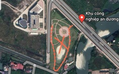 Phá bỏ công trình giống 'đường lưỡi bò' của công ty Trung Quốc trong khu công nghiệp