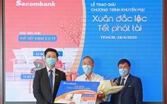 Sacombank trao thưởng sổ tiết kiệm trị giá 2,5 tỉ đồng cho khách hàng