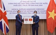 Việt Nam tặng hàng hỗ trợ phòng chống dịch COVID-19 cho các nước châu Âu