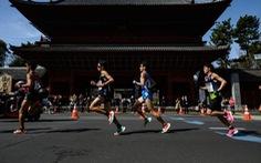 Các vận động viên marathon tham gia chạy đua trên ứng dụng
