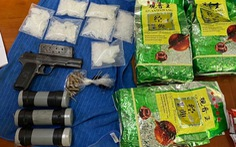 Phá đường dây ma túy từ Campuchia về TP.HCM, thu cả súng đạn, mìn tự chế