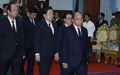 Thủ tướng Nguyễn Xuân Phúc dự quốc tang Đại tướng Lào Sisavath Keobounphanh