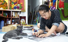 Cô gái sáng tạo ra dòng tranh dây đồng, chỉ truyền nghề cho người khuyết tật