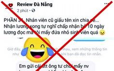 Xử phạt chủ trang bôi xấu quán nhậu ở Đà Nẵng