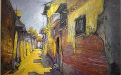 Chiêm ngắm ngôi làng nhiều biệt thự cổ của Hà Nội qua tranh vẽ