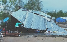 'Mưa vàng' kèm lốc xoáy ở Ninh Thuận làm 102 căn nhà hư hỏng