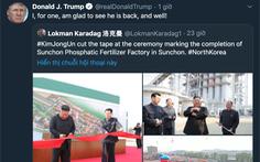 Ông Trump 'chào mừng' ông Kim quay lại sau hơn 20 ngày