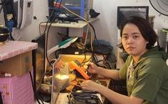 Khi con gái theo nghề điện tử